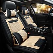 新車シートクッションレザーシートカバー四季全般氷全席5席〜2席ヘッドレスト背もたれ黒ベージュ