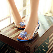 レディース 靴 PUレザー 夏 コンフォートシューズ サンダル ウェッジヒール オープントゥ 用途 カジュアル ホワイト レッド ブルー
