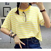 女性用 Tシャツ ストライプ コットン