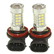 Sencart 2pcs h8 pgj19-1 lâmpadas de lâmpadas de faróis de luz de condução de nevoeiro (branco / vermelho / azul / branco morno) (dc /