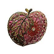 女性 バッグ 金属 クラッチ クリスタル メタルチェーン チェーン 縞柄 のために 結婚式 イベント/パーティー フォーマル オールシーズン 虹色