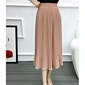 Mujer Sofisticado Casual/Diario Midi Faldas,Columpio Verano Un Color
