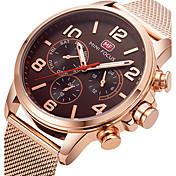 Hombre Reloj de Pulsera Reloj creativo único Reloj Casual Reloj Deportivo Reloj de Moda Cuarzo Acero Inoxidable Banda Encanto Lujo