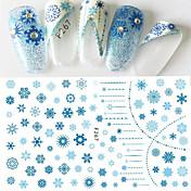 1 Adesivos para Manicure Artística Estampado Meninas e Jovens Mulheres Efeito 3D Artigos DIY maquiagem Cosméticos Designs para Manicure