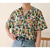 レディース カジュアル/普段着 シャツ,シンプル シャツカラー プリント その他 半袖