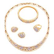 Mujer Collar Clásico Moda Estilo Simple Boda Fiesta Pedida Ceremonia Fiesta de Noche Brillante Chapado en Oro
