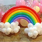 regnbue ballon sæt fødselsdagsfest bryllup indretning (20 lang ballon, 16 rund ballon, tilfældig farve)
