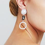 Mujer Perla artificial Personalizado Sensual Euramerican joyería película Joyería Destacada Moda Cobre Forma de Círculo Joyas Regalos de