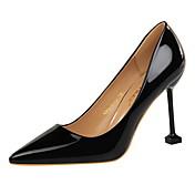 Mujer Zapatos Semicuero Primavera Otoño Confort Tacones Tacón Stiletto Dedo Puntiagudo Para Vestido Dorado Negro Plata Gris Champaña
