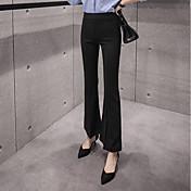 Mujer Sexy Sencillo Tiro Alto Microelástico Empresa Pantalones,Ajustado a la Bota Un Color
