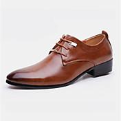 メンズ 靴 レザーレット 春 秋 フォーマルシューズ オックスフォードシューズ リベット 用途 パーティー ブラック Brown
