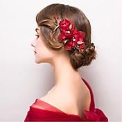 la aleación de la tela florece el estilo elegante femenino del partido de boda del casco