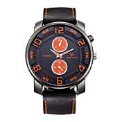Hombre Reloj Deportivo Reloj de Pulsera Reloj Casual Chino Cuarzo / Silicona Caucho Banda Vintage Casual Negro