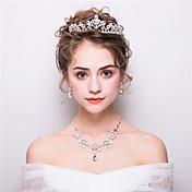 女性用 ラインストーン フラワー ラインストーン 合金 フラワー イヤリング・ピアス 髪飾り ネックレス 用途 結婚式 パーティー ウェディングギフト
