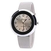 Mujer Reloj de Pulsera Reloj de Vestir Reloj de Moda Chino Cuarzo Aleación Banda Encanto Casual Elegant Negro Blanco Azul Marrón