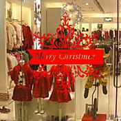 花柄/植物の クリスマス 文字 ウォールステッカー プレーン・ウォールステッカー 飾りウォールステッカー,ビニール 材料 ホームデコレーション ウォールステッカー・壁用シール