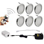 6pcs 2w dimmableは家具の照明のための無線rfリモートコントロールとキャビネットのパックのライトの下で導かれた85-265v