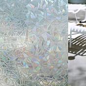 幾何学模様 ウインドウステッカー, PVC /ビニール 材料 窓の飾り リビングルーム バスルーム ショップ/カフェ キッチン