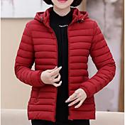 Abrigo Regular Acolchado Mujer Vintage Simple Tejido Oriental Casual/Diario Trabajo Tallas Grandes,Un Color Otro Polipropileno Manga Larga