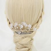 模造真珠合金髪の櫛ヘッドピースクラシックな女性のスタイル