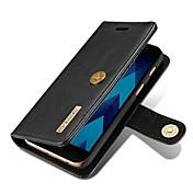 Funda Para Samsung Galaxy A5(2017) A3(2017) Soporte de Coche Cartera Flip Magnética Funda de Cuerpo Entero Color sólido Dura piel genuina