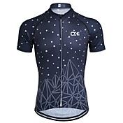 Maillot de Ciclismo Hombre Manga Corta Bicicleta Camiseta/Maillot Top Secado rápido Diseño Anatómico Cremallera delantera Transpirable