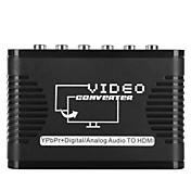 convertidor de vídeo de entrada del adaptador ypbpr a la salida HDMI 5 conversor de audio 720p 1080p la ayuda del puerto RCA