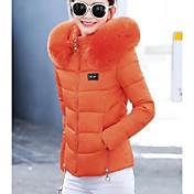 コート レディース,お出かけ カジュアル/普段着 ソリッド コットン コットン-ストリートファッション 長袖