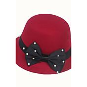 Sombreros y Gorras Niño Niñas,Invierno Otoño Mezcla de Lana Negro Rojo Fucsia Wine Caqui