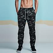 Hombre Tiro Medio Rígido Ajustado Corte Ancho Chinos Pantalones de Deporte Pantalones,camuflaje Algodón Invierno Primavera Otoño Todas