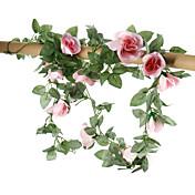 """16花の78の """"Lセットは花籐の絹の布の花バラ"""