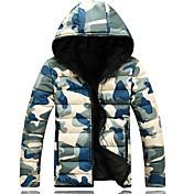 コート レギュラー パッド入り メンズ,お出かけ カジュアル/普段着 カモフラージュ コットン コットン-ストリートファッション 長袖