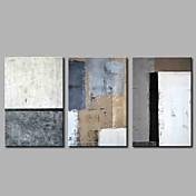 Pintada a mano Abstracto Simple Modern Tres Paneles Lienzos Pintura al óleo pintada a colgar For Decoración hogareña