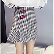 Mujer Asimétrico Faldas,Falda y Vestido