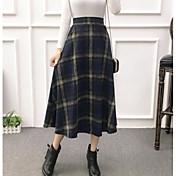Mujer Moderno Falda Faldas Bloques