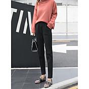 Mujer Casual Tiro Medio Microelástico Falda y Vestido Pantalones,Un Color Todas las Temporadas