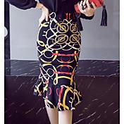 Mujer Midi Faldas,Falda y Vestido Corte Bodycon
