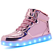 Mujer Zapatos Materiales Personalizados Semicuero Otoño Invierno Confort Zapatos con luz Zapatillas de deporte Dedo redondo Con Cordón