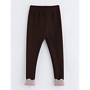 Pantalones Chica Retazos Algodón Invierno