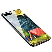 Funda Para Apple iPhone X iPhone 8 Plus Diseños Funda Trasera Cielo Suave Vidrio Templado para iPhone X iPhone 8 Plus iPhone 8 iPhone 7