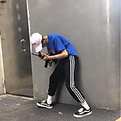 Hombre Ajustado Chinos Pantalones,Ajustado Chinos Un Color A Rayas
