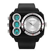 Hombre Mujer Reloj Casual Reloj Deportivo Reloj de Moda Japonés Digital Calendario Resistente al Agua Dos Husos Horarios Cronómetro