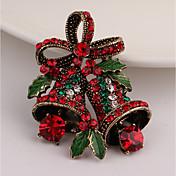 男性用 女性用 ブローチ ラインストーン ヴィンテージ イミテーションダイヤモンド 合金 リボン ジュエリー 用途 クリスマス