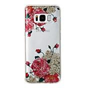 Funda Para Samsung Galaxy S8 Plus S8 IMD Diseños Cubierta Trasera Brillante Flor Suave TPU para S8 Plus S8 S7 edge S7