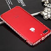 Funda Para iPhone 7 Apple iPhone 7 Antigolpes Marco Antigolpes Color sólido Dura Metal para iPhone 8 iPhone 7