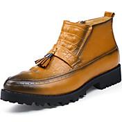 男性用 靴 エナメル 秋 / 冬 ファッションブーツ / オートバイ用ブーツ / コンバットブーツ ブーツ ブーティー/アンクルブーツ ブラック / Brown / パーティー