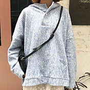 Mujer Tallas pequeñas Sudadera Diario Casual A Lunares Con Capucha Sudaderas Microelástico Algodón Mangas largas Invierno Otoño