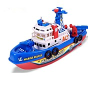 Barcos de juguete Bote Tema Playa Luminoso Luces LED Activadas Por Sonido Canto Eléctrico ABS Niños Regalo 1pcs
