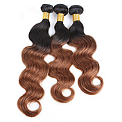3 Piezas # T1B 30 # T1B -99J Negro Natural Ondulado Grande Cabello Brasileño Cabello humano teje Extensiones de cabello 0.15kg