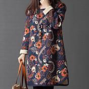 Mujer Corte Ancho Túnica Vestido - Estampado, Floral Mini